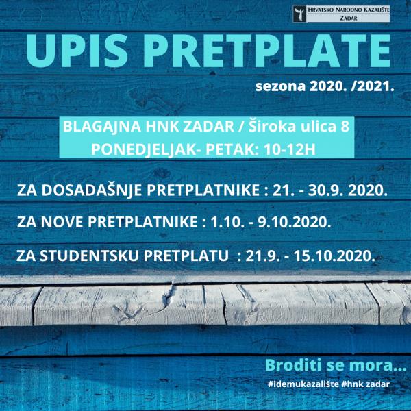 UPIS PRETPLATE