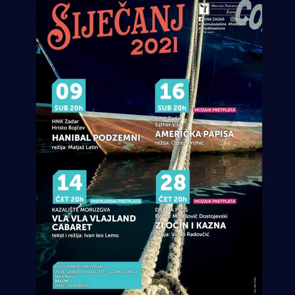 Što Vas očekuje u siječnju u HNK Zadar?